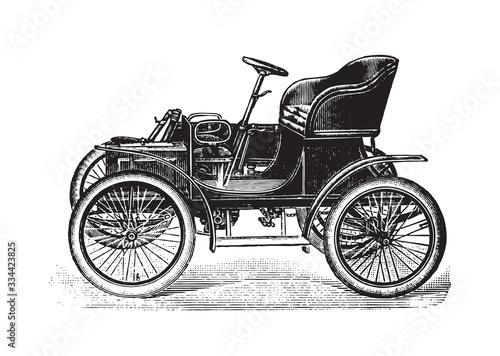 Fotografie, Tablou Old vehicle / vintage illustration from Brockhaus Konversations-Lexikon 1908