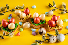 Easter Pastries On The Yellow ...