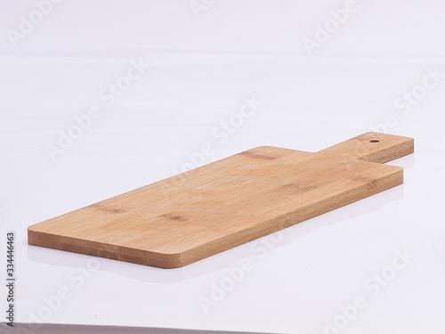 Carta da parati wooden kitchen board on white