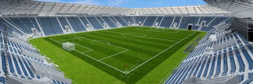 Obraz Leeres Fußballstadion wegen Covid-19 Ausgangssperre - fototapety do salonu