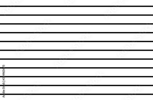 Cuadros en Lienzo Horizontal black lines on white background