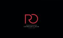 RO RD R D O Letter Logo Alphabet Design Template Vector