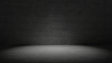 Concrete Room In Dark Light Su...