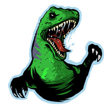 Raptor  Head Vector Logo Mascot Design