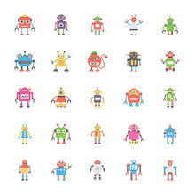 A Pack Of Robotics Flat Vecto...