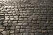 Selciato di Sanpietrini in una strada di Roma