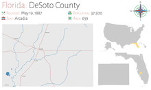 Large And Detailed Map Of DeSo...
