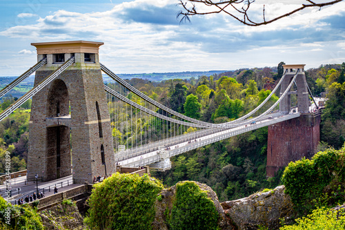 Fotografie, Obraz Clifton suspension bridge, Bristol, UK