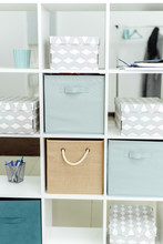 Boxes And Organizers In A Whit...