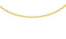 Realistic Thin Gold Chain With...