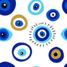 Seamless Pattern With Evil Eye...