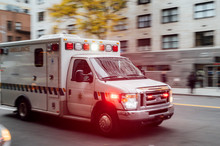 High-speed Ambulance On A New ...