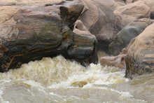 Water Running Down Rocks