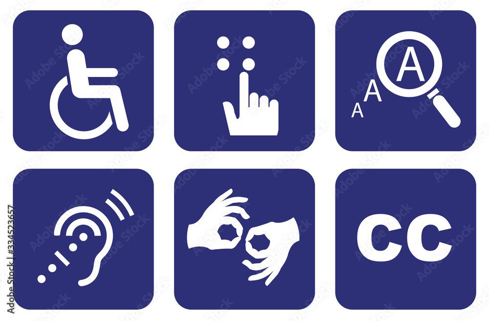 Fototapeta Universal Symbols of Accessibility