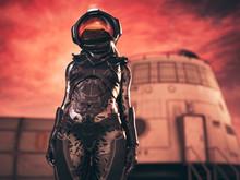 Astronaut On Mars Mission Isol...