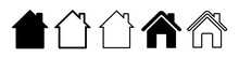 Home Flat Icon Set Vector Illu...