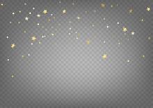 Golden Confetti Vector Clipart...