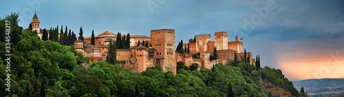 Tablou Canvas Granada Alhambra panoramic view