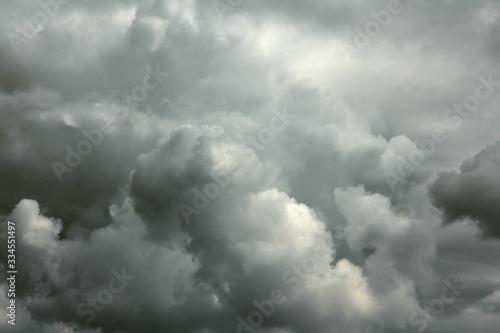 Obraz na płótnie Dark fluffy thunderclouds
