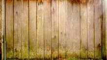 Mossy Wood Vintage Background Wall Fence Rotting Musty Style