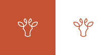 Giraffe Minimalist Line Drawn Vector Logo