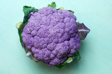 Top View To A Purple Colored C...
