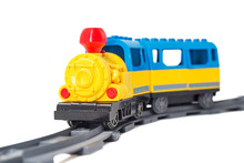 Colorful Toy Train On The Rail...