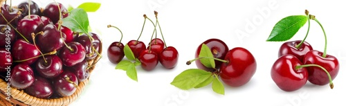 Fototapeta cherry, fruit, food, red, sweet, cherries, fresh, Kirsche, Obst, Lebensmittel, rot, süß, frisch, obraz