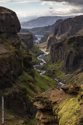 Canyon de Þórsmörk en Islande Canvas Print