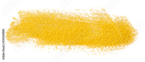 yellow gold shiny paint stain Canvas Print
