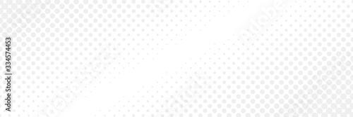 Fototapeta Vector comic book background with halftone gradient in retro pop art style. Long horizontal banner obraz