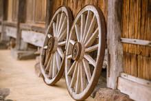 Wheel Of A Wooden Cart
