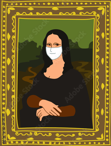 Fotografie, Tablou Portrait of Mona Lisa by Leonardo da Vinci