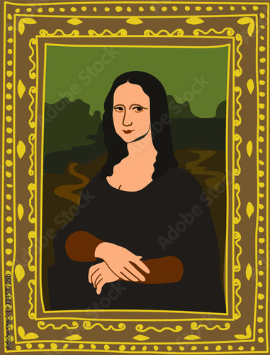 Tablou Canvas Portrait of Mona Lisa by Leonardo da Vinci