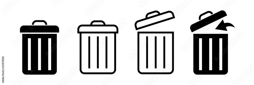 Fototapeta Bin icon. Trash can. Trash can icon. Vector