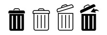 Bin Icon. Trash Can. Trash Can Icon. Vector