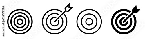 Goal.Set of goals. Target icon. Target, call, goal icon.Vector.