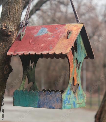 Fotografering Nesting box on a tree