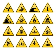 Hazard Warning Sign Vector Ico...