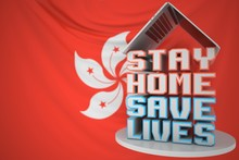 Laptop And STAY HOME SAVE LIVE...