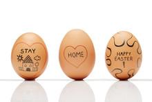 "Three Homemade ""stay Home"" Eggs"