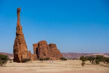 Natural Rock Formations, Sandstone Pilar, Chad, Africa