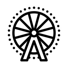 Ferris Wheel Icon Vector. Ferr...