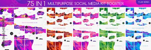 Fluid multipurpose social media kit booster Fototapet
