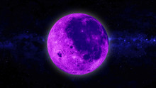 Full Pink And Blue Moon With S...