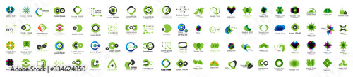 Obraz Abstract Logo And Icon Set. Elements Collection Isolated On White - Vector. Flat Icons For Business Template Logo, Square Elements, Website, Business Symbol And Circle Elements. Abstract Medical Logo - fototapety do salonu