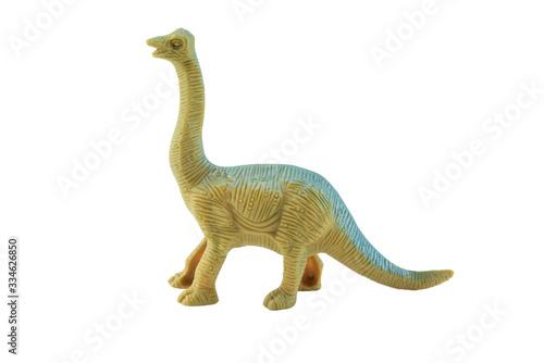 plastic dinosaur toy Canvas Print