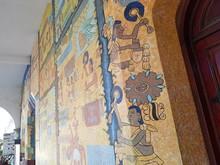 Muro Palacio Municipal, Tlapa De Comonfort, Guerrero, Mex.