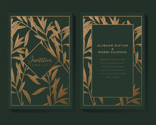 Green And Gold Invitation Background