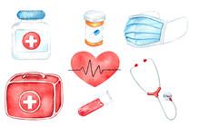 Medical Equipment, Watercolor ...
